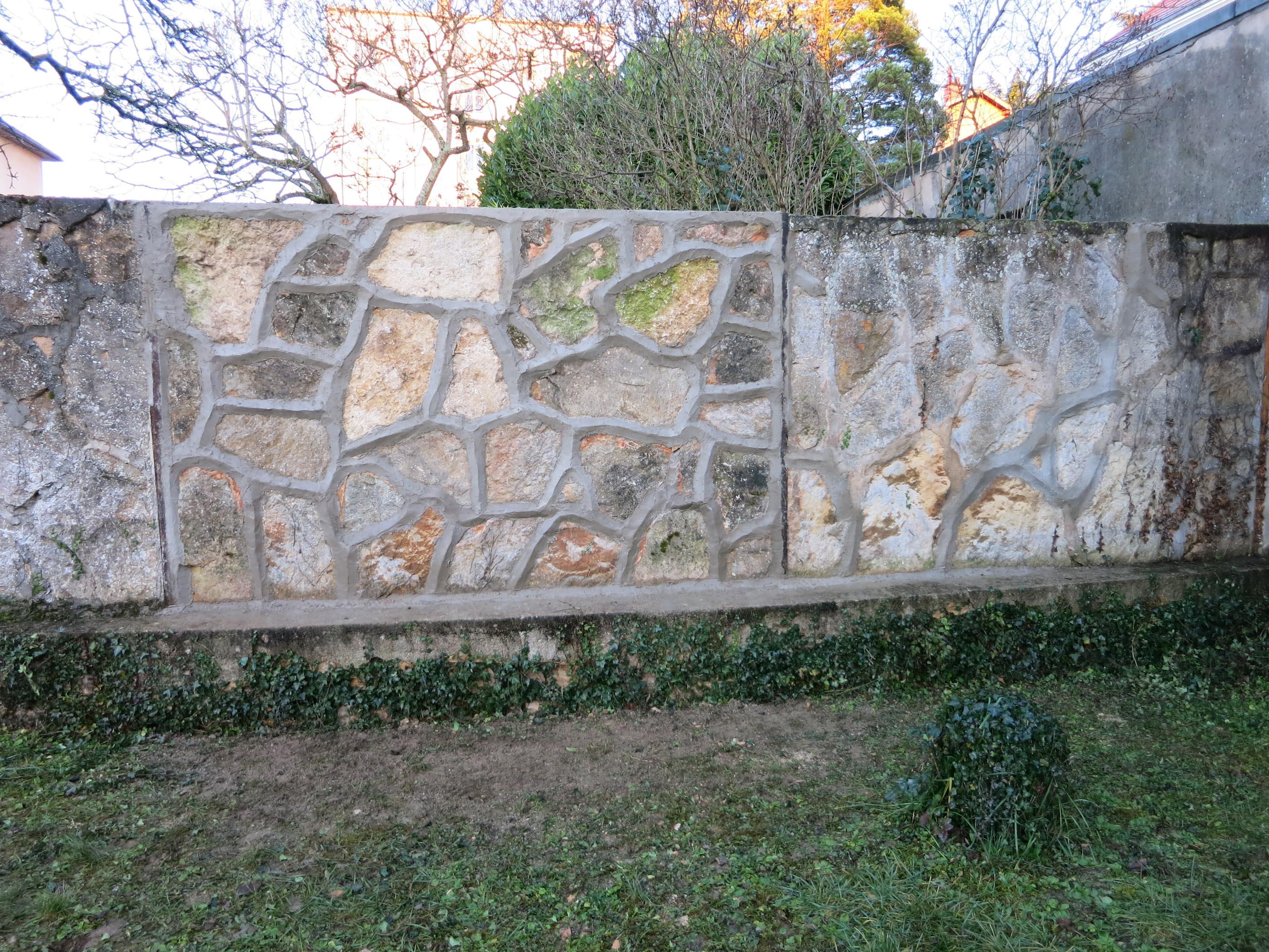 Dijon Mur mitoyen en laves