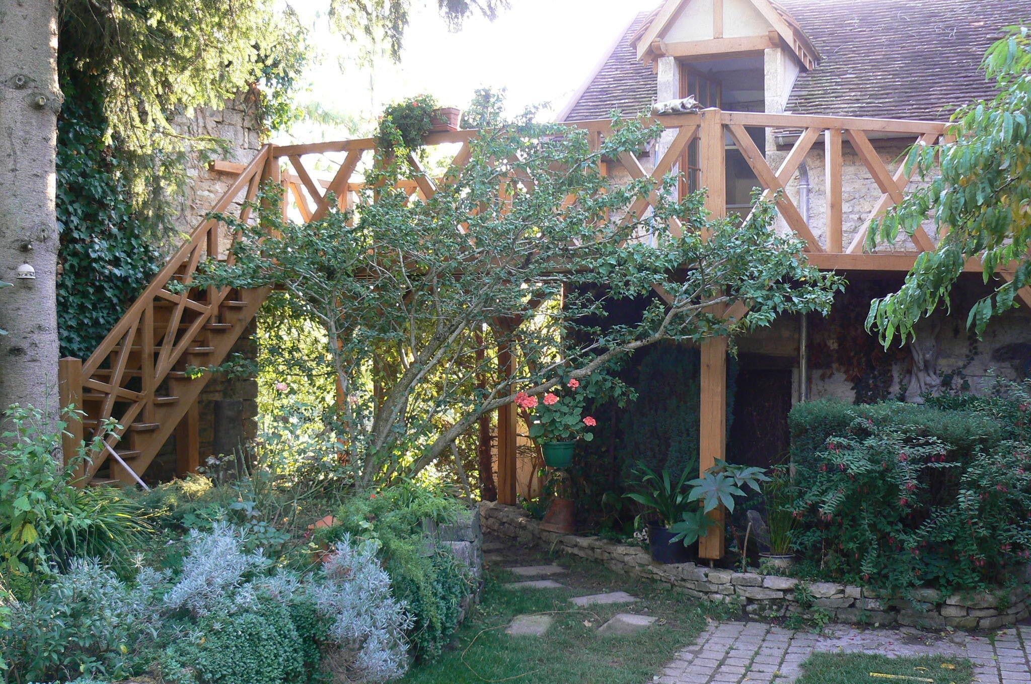 Reuille-Vergy terrasse en chênes